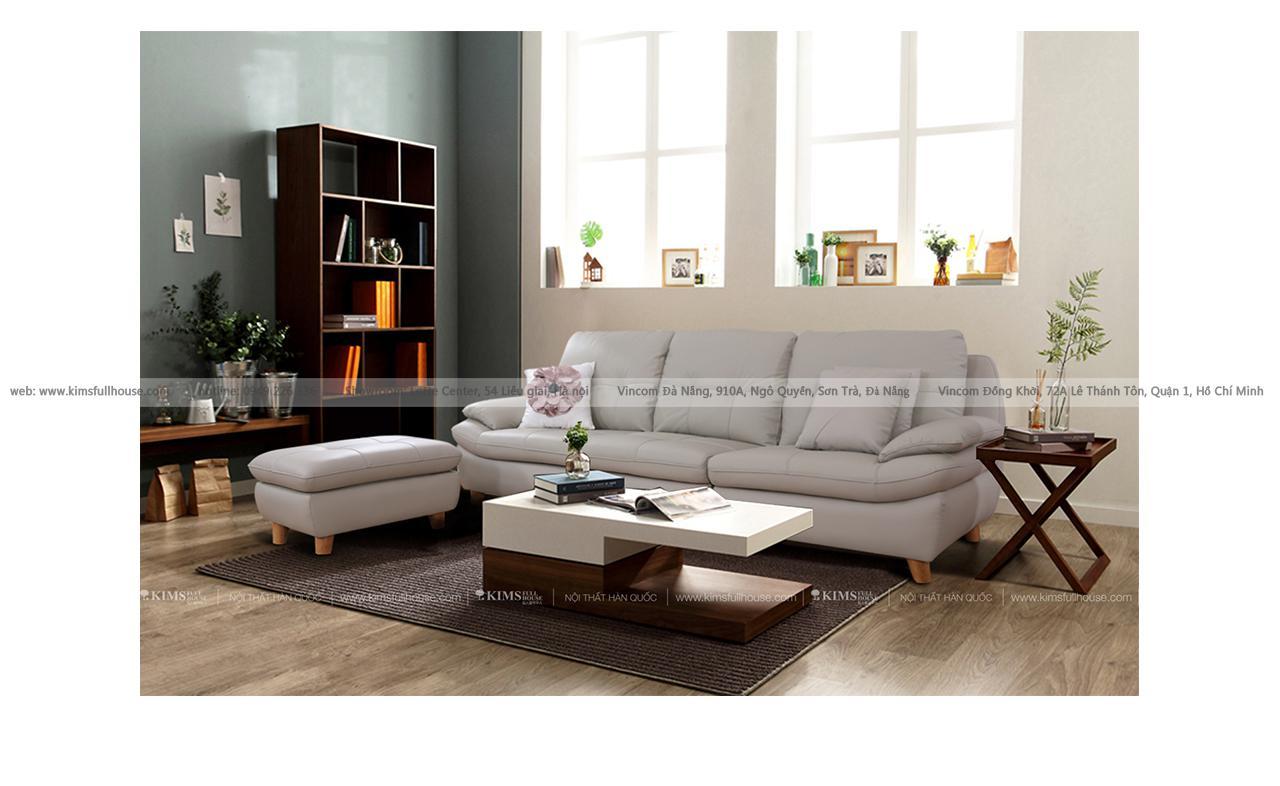 Sofa da nhập khẩu Maru 465 Kims Full House