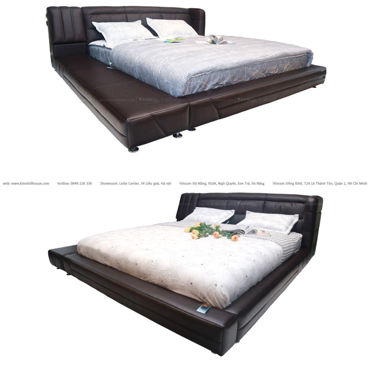 giường da