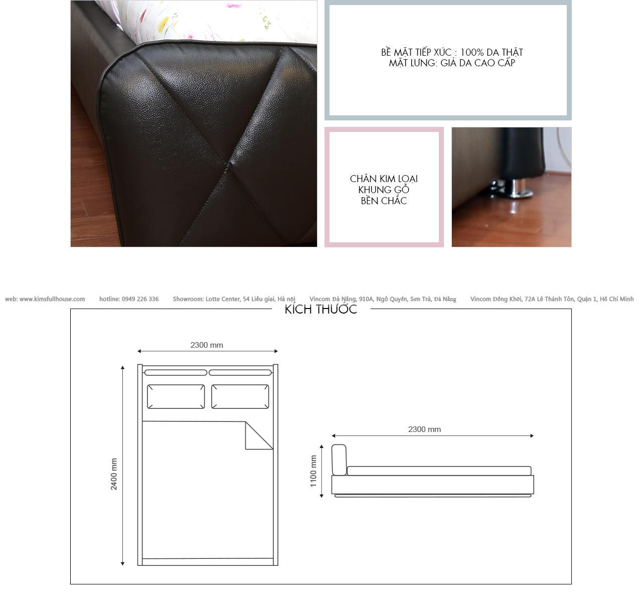 Giường KATIE (NEW) 3D801